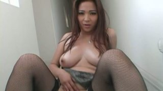 Provocative Asian slut Scarlett Ventura poses on a cam and gives deepthroat blowjob Preview Image
