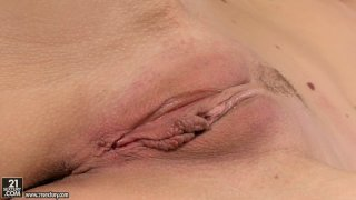 Voluptuous Sophie Moone sucks a dildo_like_a real cock and tickle fancy Preview Image