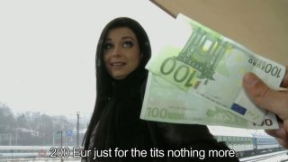 Horn-mad brunette Victoria Blaze_is ready_to show her tits for 200 EUR Preview Image