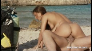 Stunning babe Claudia Rossi anal fucks on a beach Preview Image
