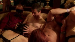 Wild orgy in the private_men's club_with lewd blonde Sindee Coxx Preview Image