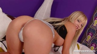 Wondrous slut in heels Natalli_Di Angelo rubs her wet_pussy joyfully Preview Image