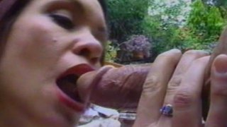 Pale skin busty redhead mom Bridgette Belle fucks doggystyle after a blowjob Preview Image