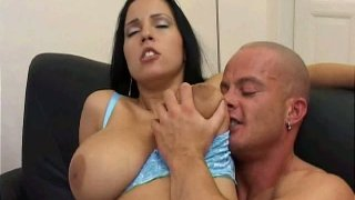 Lovely hot brunette Celine rides and sucks a cock perfectly well Preview Image