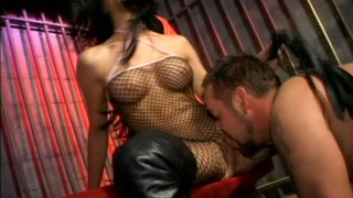 Spoiled brunette Leah Wilde_humiliates naked dude and gonna have rough sex Preview Image
