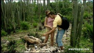 Sensual sex scene of Gilda Roberts outdoors Preview Image