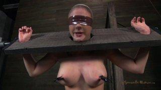 Fuckable slut Chanel Preston_gives a blowjob in hot BDSM sex video Preview Image