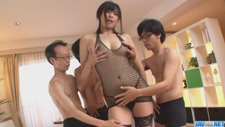 Three guys get a japanese girl More at javhdnet Preview Image
