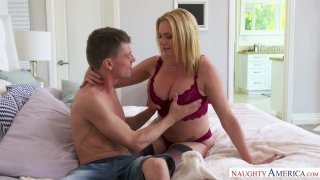 MILF Briana Banks Well-Cums Her Son's Friend Into Her Home Preview Image