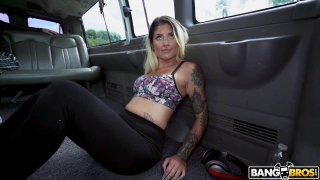 Tattooed Chick Sucks and Fucks on The Bus Preview Image
