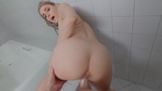 Nikki Peach gets fucked standing in the shower Preview Image