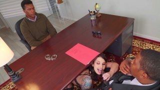 Ivy Lebelle gives blowjob to Isiah Maxwell in the office Preview Image