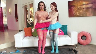 Maddy O'Reilly & Violet Monroe lesbian anal Preview Image