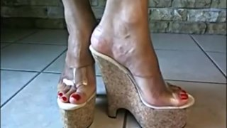 Bare Feet In Open High Heels 7 Preview Image