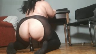 BBW Rides on a Black Dildo Preview Image