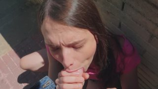 Izzy Lush gives nice blowjob in POV Preview Image