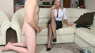 Femdom handjob_from a_GILF Preview Image
