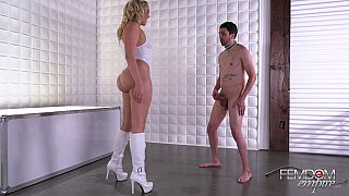 Balls kicking femdom with a hottie Preview Image