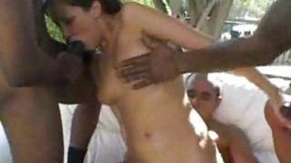 White Girl Fucks Gang of Black Men interracial Preview Image