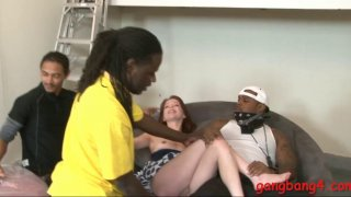 Hot teen anal banged by big black cocks Preview Image
