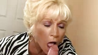 Milf Takes Off His Cloths To Blowjob His Big Cock Preview Image