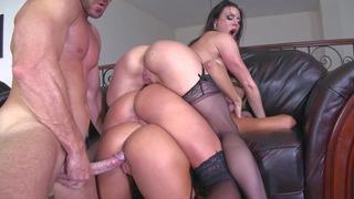 Johnny Sins fucks Kissa Sins, Kendra Lust, and Peta Jensen in turn Preview Image