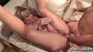 Mature Wife Blows a Dude and_Fucks Him in_Front of Her Younger Husband Preview Image