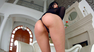 Lond legged brunette babe Kitty Lovedream shows her sweet holes Preview Image