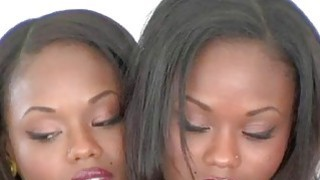 Gorgeous Identical Twins. Ebony French twin tease. Preview Image