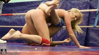 Pretty girls are having lesbian wrestling Preview Image