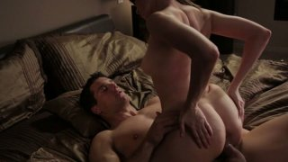 Kinky slut Dana DeArmond sucks the dick deepthroat and gets a great rimjob before the anal drilling action Preview Image
