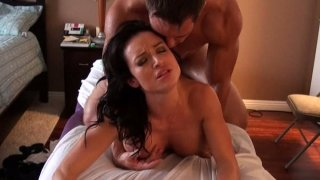 Super hot brunette milf Francheska James gets her hairy pussy pounded hard Preview Image