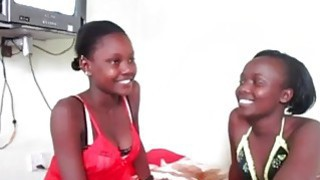 Curious African girls are eager to try new strapon during hot lesbian sex Preview Image