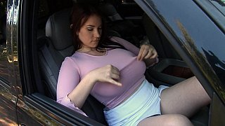Busty in the car Preview Image
