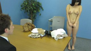 Shy Japanese girl gives head for a job Preview Image
