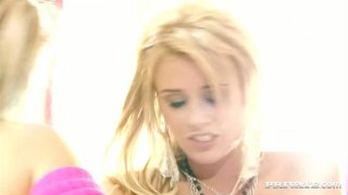 Couple funky blonde lesbians finger and eat each other's pussies Preview Image