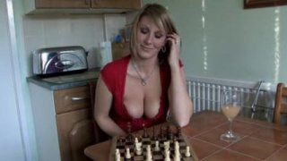 Cute girl shows her tits while playing chess in POV Preview Image