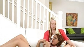 Milf pussy toyed by two nasty teen girls in the bedroom Preview Image