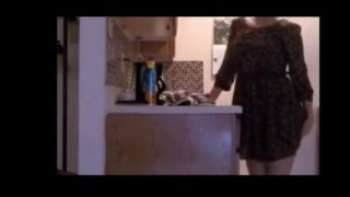 Housewife Arina masturbates in the kitchen Preview Image