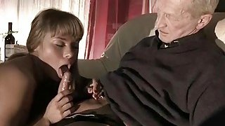 Very Old Man Fucks Very Young Girl And Cums On Her Preview Image