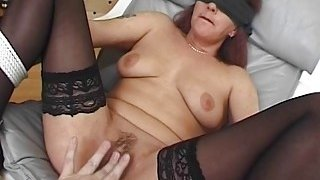 Blindfolded and Tied Mama Fucked With Facial Preview Image