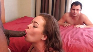 Wife enjoys the black cock while husband watches a ‣ chubby wife enjoys bbc Preview Image