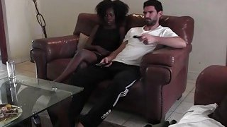 Real interracial couple bored watching TV decided to heat up homemade sex Preview Image