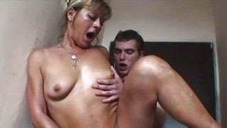 European Blonde Mature Double Teamed By Yung Cocks Preview Image