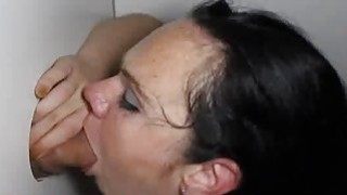 Short Freckle_Skank Sucking Dick in Glory Hole Preview Image