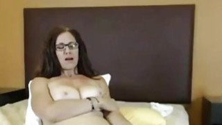 Big Tit Milf toying hairy pussy Preview Image