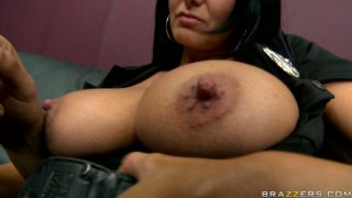 Horny stud suckled Ava Addams' firm nipples and bites them softly Preview Image