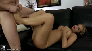 Girl with big natural boobs Candy Alexa gets her sexy feet fucked Preview Image