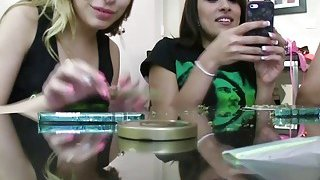 Wild babes share a_huge dick_at the weed party Preview Image