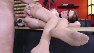 Anal lover Anna De Ville has her co-worker drill her ass hole Preview Image